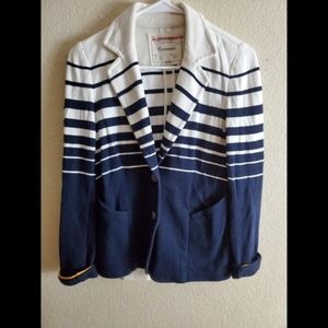 Cartonnier Anthropologie Nautical Stripe Blazer